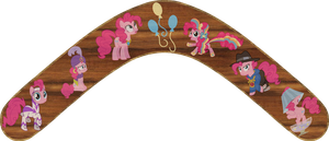Pinkie Pie 2 Boomerang by Out-Buck-Pony