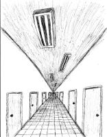 Hallway (A vanishing point test) by ExtremeMagneticPower
