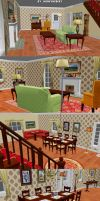 Hannah Montana The Game - Living Room and Kitchen by JhonyHebert