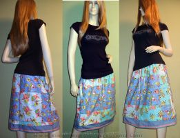 Care Bears Patchwork Skirt 2 by RedheadThePirate
