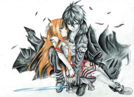 Asuna and Kirito (SAO) by sasuke9534