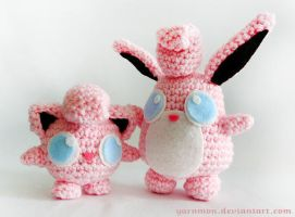 Wigglytuff Pokemon Amigurumi by yarnmon