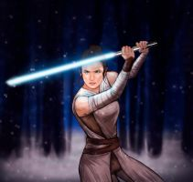 Rey - Star Wars: The Force Awakens by sofimartinez