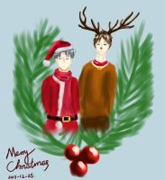 Merry Xmas and happy bday for Levi by Siveryyao