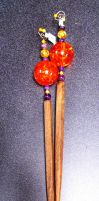 Amber and Amethyst Hair Sticks by bataleigh