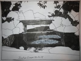 InkTober Drawing #4 Bridge by Riverfront Park by Justyn16