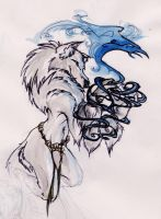 arctic wolf-magic by koosh-llama