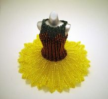 Sunflower Ballerina BeadDress WideSkirt by pinkythepink