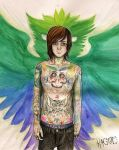 Mitch Lucker : Owl Tattoo by Kagoe