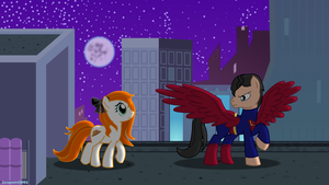 SuperPony and Lana Lang by jucamovi1992