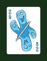 I drew a 2 of Spades aka 2 of Water! by LineDetail