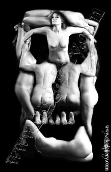 Nude Skull Art based off Dali's Voluptate Mors by Chuck-K