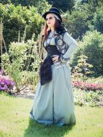Pagan steampunk costume by sombrefeline
