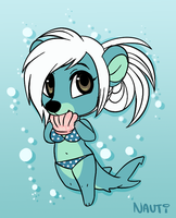 Ottershark Chibi by nauticaldog