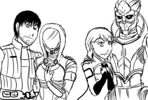 Creative title here Mass Effect characters by Stubbykeno