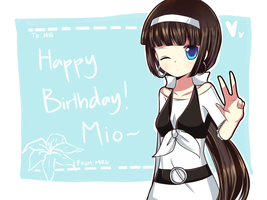 HAPPPY BIRTHDAY MIOOOO by Usu-mi