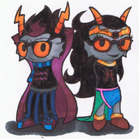 Eridan and Feferi by frostedWarlock