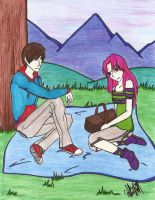A Couple at a Picnic by ajbluesox