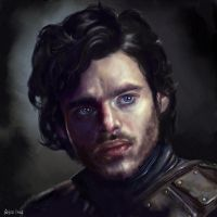 Game of Thrones - Robb Stark by GrayscaleArt
