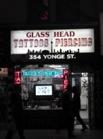 Glass Head Shop By Night by Neville6000