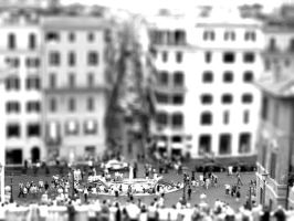 Plaza di Spagna: Tilt-Shift by mex-penguingirl