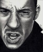 Vin Diesel Pencil Drawing by Doctor-Pencil
