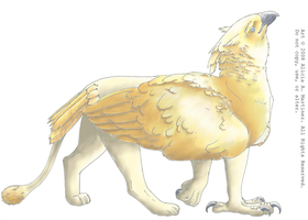 Golden Gryphon_Color by Nashiil