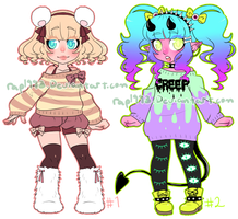 Adoptable Girls Auction! CLOSED! by rap1993