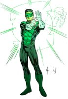 Kyle Rayner Green Lantern by UltimateRubberFool