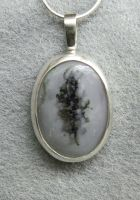 Lone Tree Zen stunning silver merlinite pendant by YANKA-arts-n-crafts