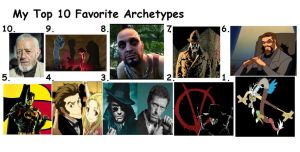 Top 10 Favorite Archetypes by Popculture-Patron
