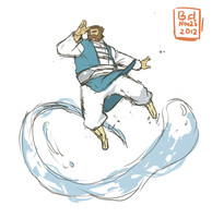 Chubby Water Bender by beardrooler