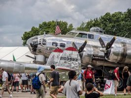 Oshkosh 13.  B-17 Flying Fortress  Wisconsin. 2015 by jennystokes