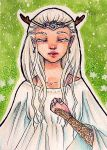 ACEO #4 - Amethyst Elf by xuniap