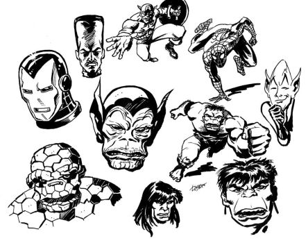 Classic Marvel Sketches 2 by LostonWallace
