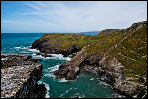 A View From Tintagel Castle by Enderion