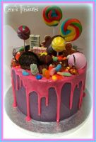 Mad Colourful Candy Cake! by gertygetsgangster