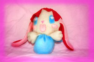 Bunny in a bag plushie by Minikoh