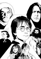 Harry Potter Year One Inks by westleyjsmith