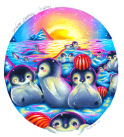 Baby Penguin Paradise by BlueRoseArkelle