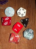 Dungeons And Dragons Dice by rinkuji-chan666