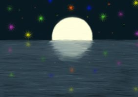 The Moon On The Water by Derema-Phoenixia