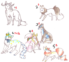 Canine Adoptables by cosmicForecast