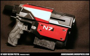 Mass Effect Themed Nerf Recon Progress Photo by JohnsonArms
