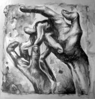 Hands II: Unprinted Plate by LoryTraugott