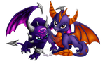 Skylanders Spyro and Cynder My Style by Cattensu