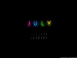 Simple July Wallpaper 1024x768 by bystrawbrry
