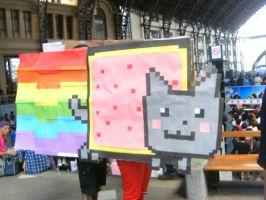 Nyan Cat, AExpo Summer 2012, Chile by thekeiry03