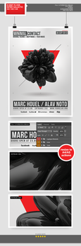 Minimal Contact /// Flyer Template PSD by blercstudio