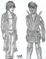 Ninjak and Garry by guelpacq